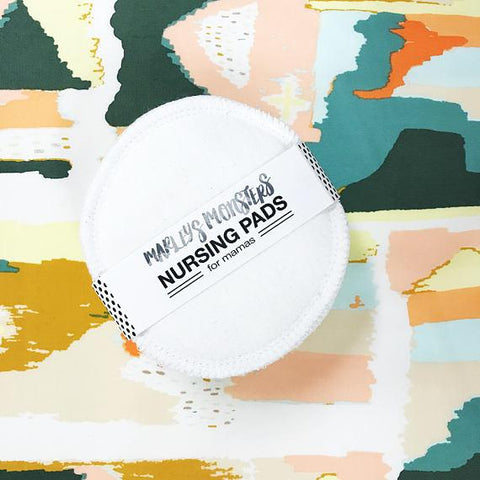 Nursing Pads White - Marley's Monsters - ZeroWasteSociety