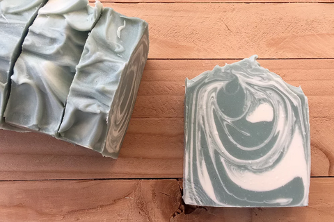 Peppermint Vegan Bar Soap - Sunrise Soapworks - ZeroWasteSociety