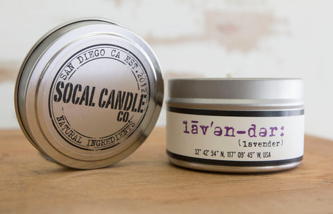 Lavender Soy Candle - SoCal Candle Co. - ZeroWasteSociety