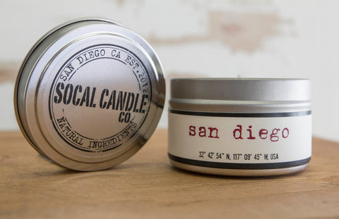 San Diego Soy Candle - SoCal Candle Co. - ZeroWasteSociety