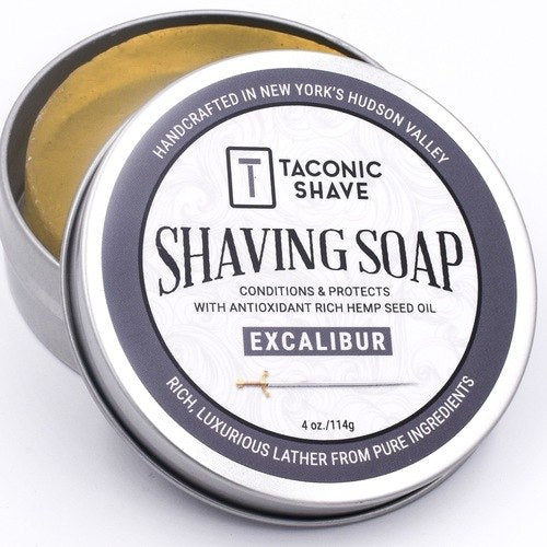 Shaving Soap Excalibur - Taconic Shave - ZeroWasteSociety
