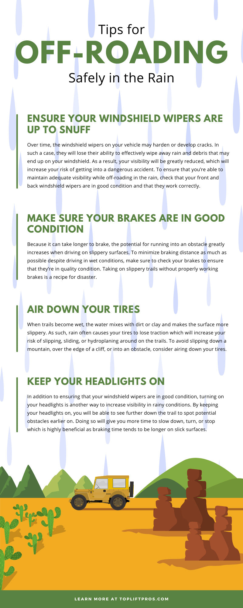Tips for Off-Roading Safely in the Rain