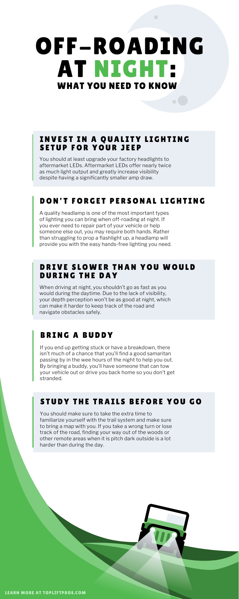 Off-Roading at Night: What You Need to Know