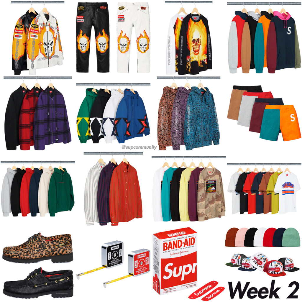 Supreme Week 2 Retail Prices and Droplist (SS19)