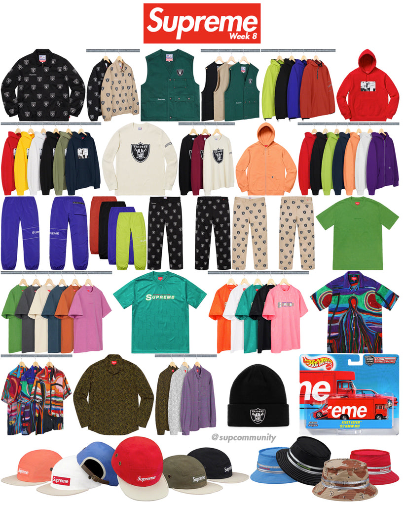 Supreme Week 8 Retail Prices and Droplist (SS19)