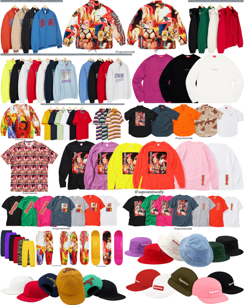 Supreme Week 10 Retail Prices and Droplist (SS19)