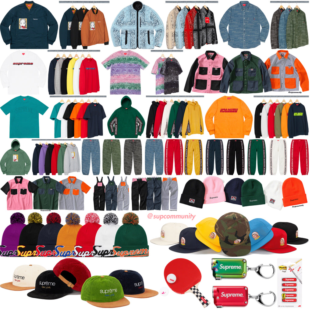 Supreme Week 3 Retail Prices and Droplist (FW19)