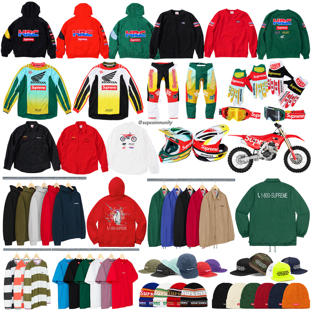 Supreme Week 6 Retail Prices and Droplist (FW19)
