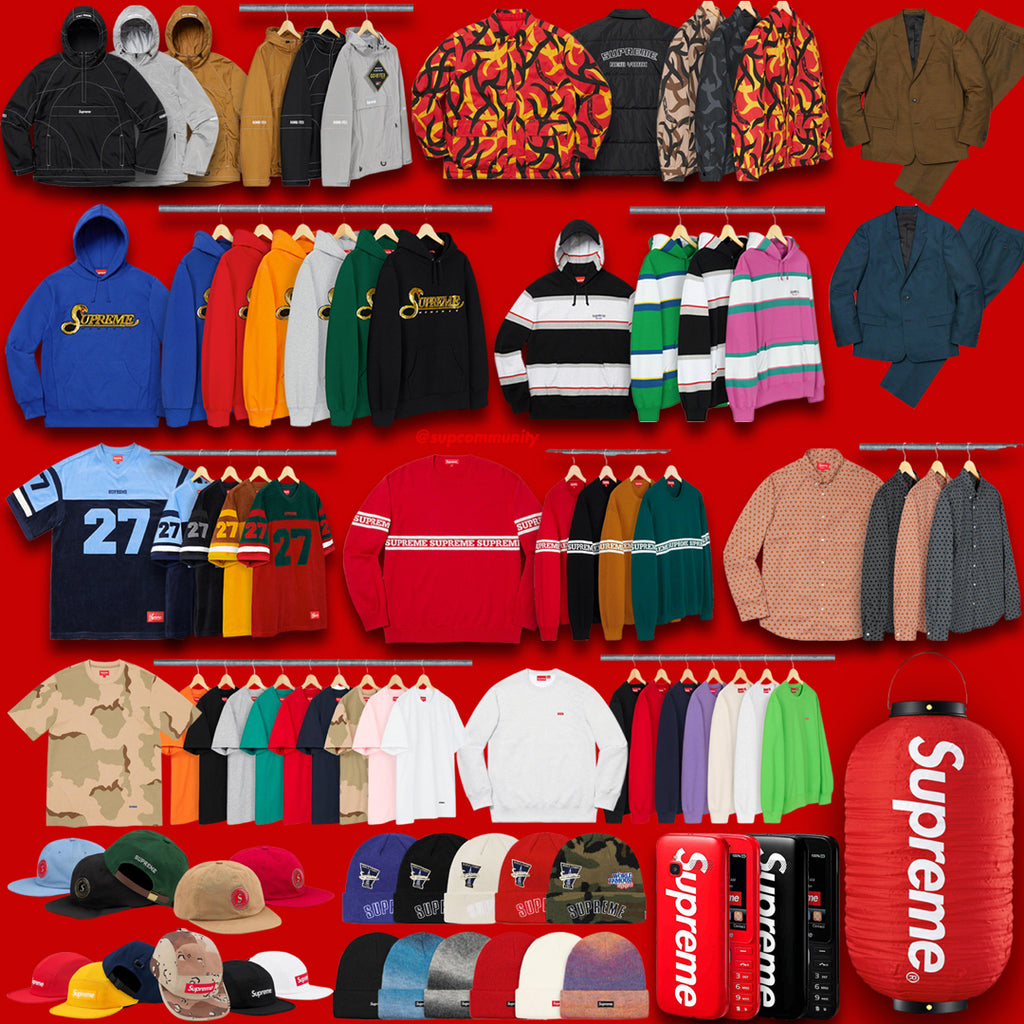 Supreme Week 8 Retail Prices and Droplist (FW19)