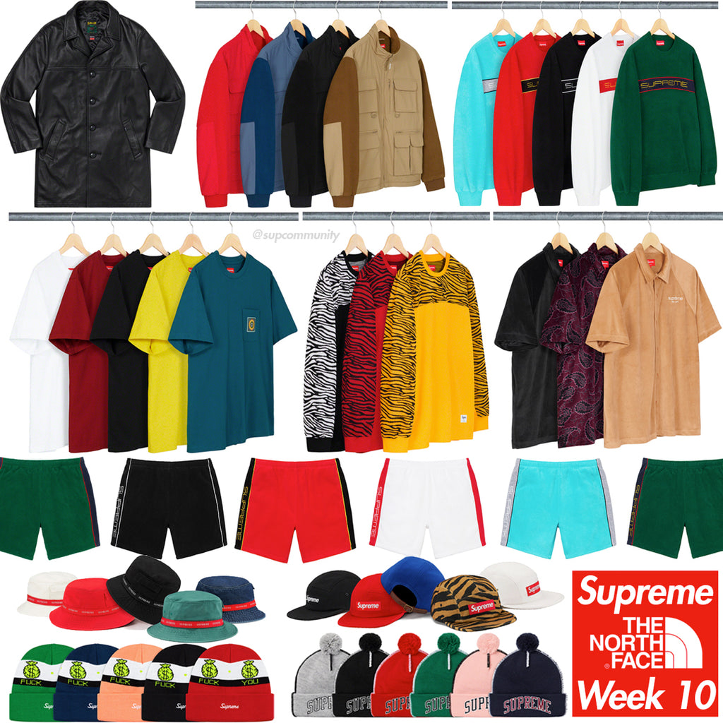 Supreme Week 10 Retail Prices and Droplist (FW19)