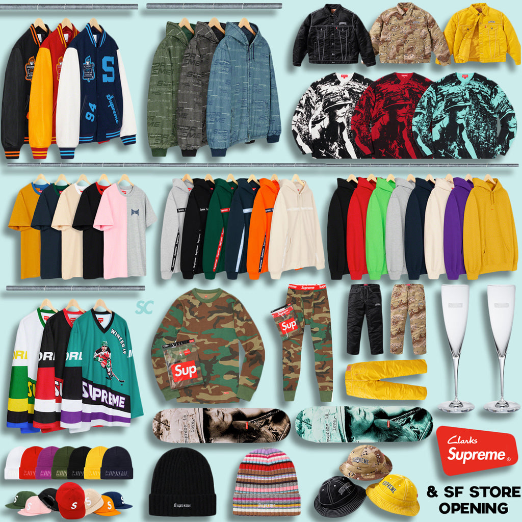 Supreme Week 9 Retail Prices and Droplist (FW19)