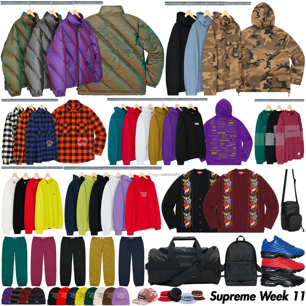 Supreme Week 11 Retail Prices and Droplist (FW19)