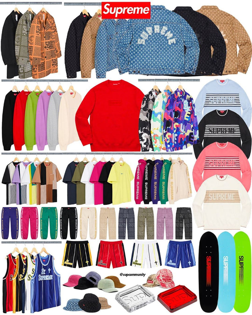 Supreme Week 10 Retail Prices and Droplist (SS20)