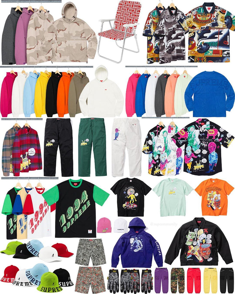 Supreme Week 12 Retail Prices and Droplist (SS20)