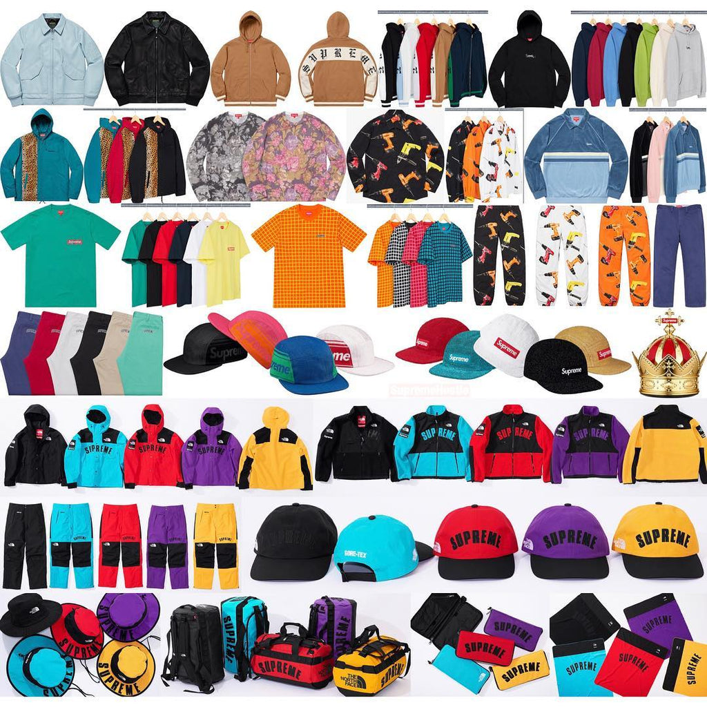 8902e1dbe4cc9 Supreme Week 5 Retail Prices and Droplist (SS19) - TNF