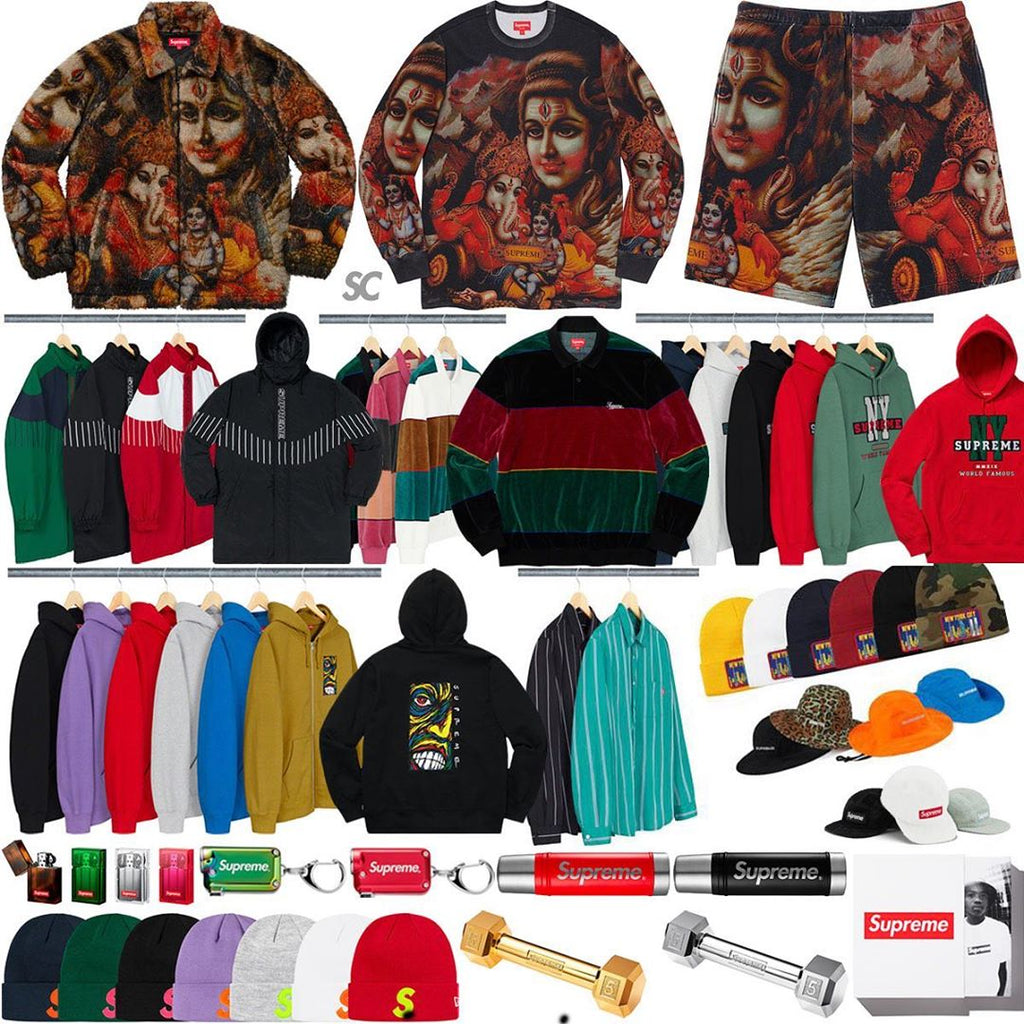 Supreme Week 13 Retail Prices and Droplist (FW19)