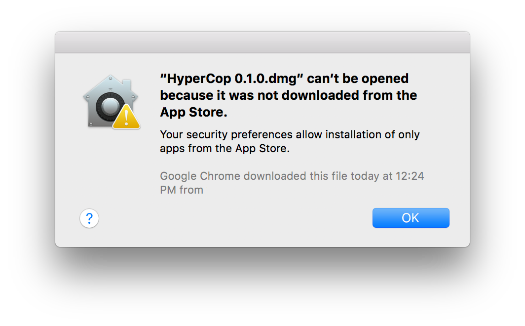 can't be downloaded error hypercop mac os