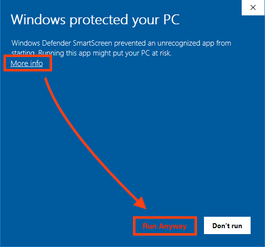hypercop windows installation error windows protected your pc