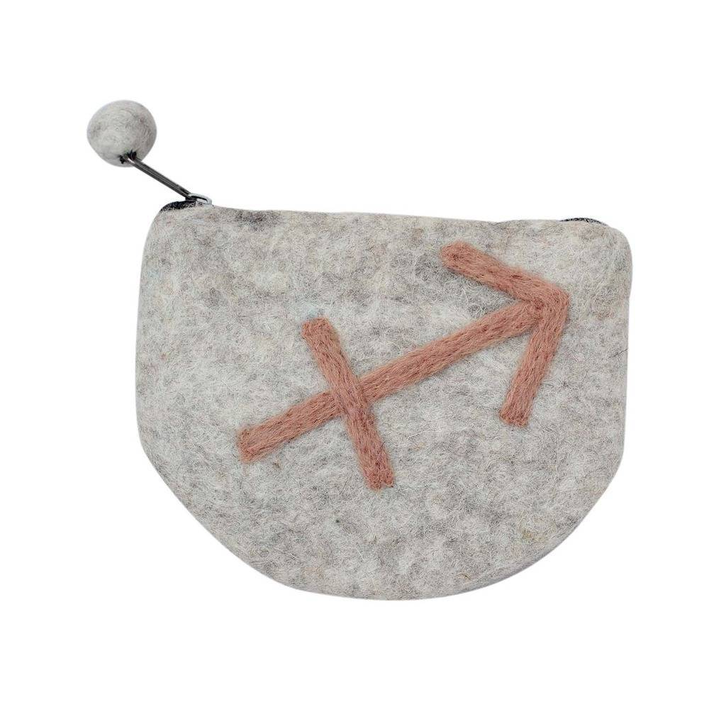 Felt Sagittarius Zodiac Coin Purse - Global Groove - Urban Hollywood | UrbanHollywood.com