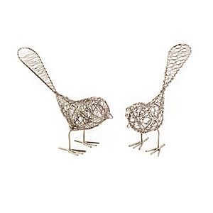 Set of Two Decorative Wire Birds - Mira (Bell) - Urban Hollywood | UrbanHollywood.com