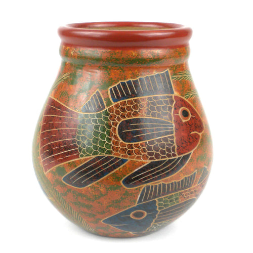 6 inch Tall Vase - Fish - Esperanza en Accion - Urban Hollywood | UrbanHollywood.com