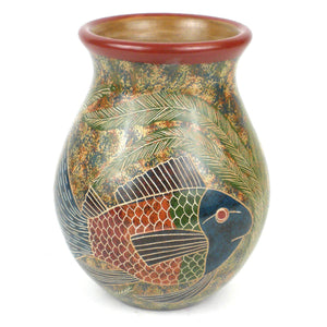 6 inch Tall Vase Fish Design - Esperanza en Accion - Urban Hollywood | UrbanHollywood.com