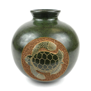 6 inch Tall Vase - Turtle - Esperanza en Accion - Urban Hollywood | UrbanHollywood.com