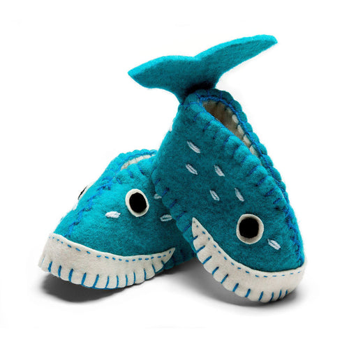 Whale Zooties Baby Booties - Silk Road Bazaar - Urban Hollywood | UrbanHollywood.com