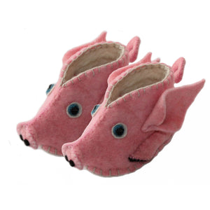 Piggy Zooties Baby Booties - Silk Road Bazaar - Urban Hollywood | UrbanHollywood.com