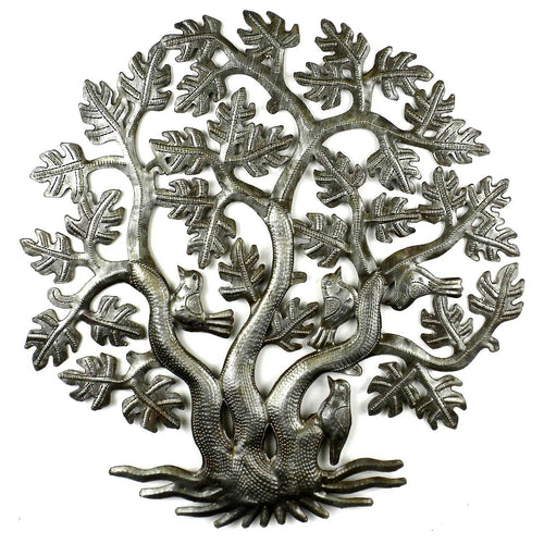 14 inch 3 Trunk Tree of Life Wall Art - Croix des Bouquets - Urban Hollywood | UrbanHollywood.com