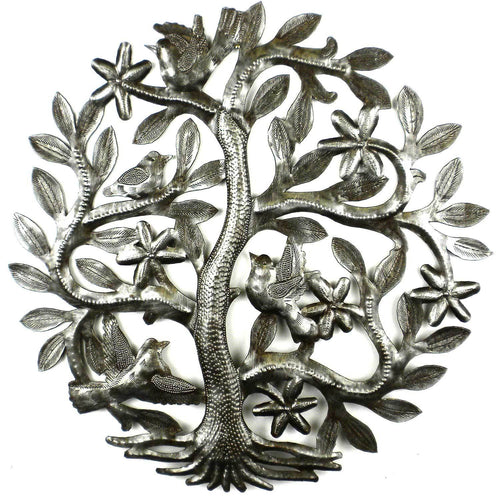 14 inch Tree of Life with Birds Wall Art - Croix des Bouquets - Urban Hollywood | UrbanHollywood.com