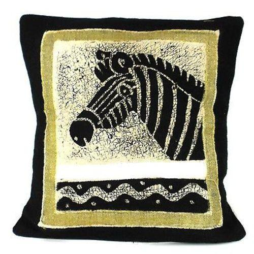 Handmade Black and White Zebra Batik Cushion Cover - Tonga Textiles - Urban Hollywood | UrbanHollywood.com