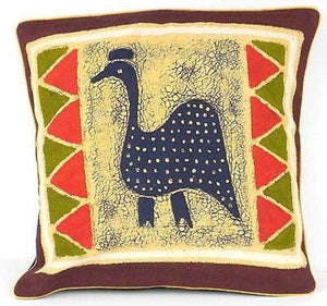 Handmade Guinea Fowl Batik Cushion Cover - Tonga Textiles - Urban Hollywood | UrbanHollywood.com