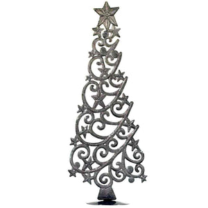 "Tabletop Christmas Tree with Stars (18"" Tall) - Croix des Bouquets (H) - Urban Hollywood 