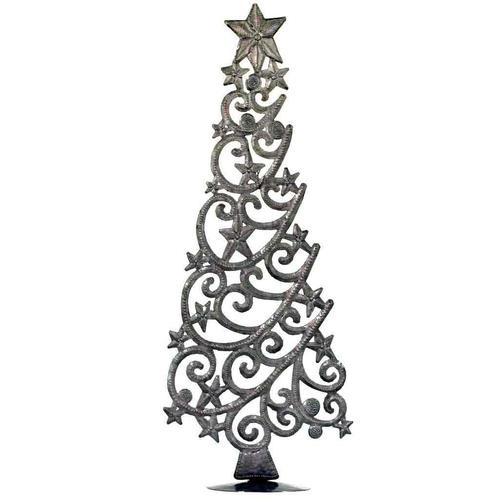 Tabletop Christmas Tree with Stars (18