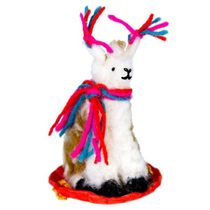 Felt Sledding Llama Ornament - Wild Woolies - Urban Hollywood | UrbanHollywood.com
