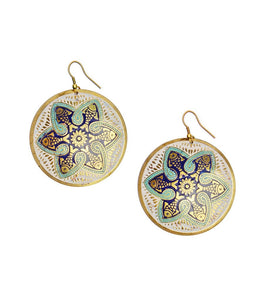 Tzolkin Earrings - Navy - Matr Boomie (Jewelry) - Urban Hollywood | UrbanHollywood.com