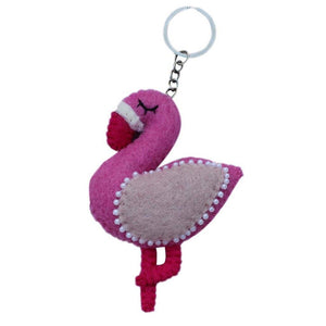 Felt Flamingo Key Chain - Global Groove (A) - Urban Hollywood | UrbanHollywood.com