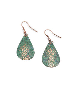 Art Deco Scallop Earrings - Patina - Matr Boomie (Jewelry) - Urban Hollywood | UrbanHollywood.com