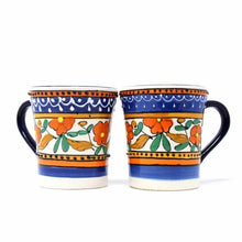 Load image into Gallery viewer, Flared Coffee Cups - Orange and Blue, Set of Two - Encantada - Urban Hollywood | UrbanHollywood.com