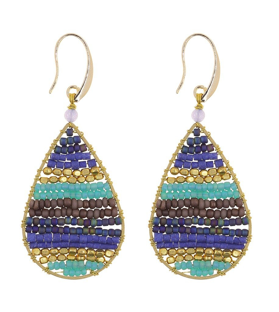 Earrings: Lauren Celestial Blue - Marquet (J) - Urban Hollywood | UrbanHollywood.com