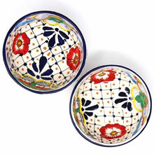 Load image into Gallery viewer, Half Moon Bowls - Dots and Flowers, Set of Two - Encantada - Urban Hollywood | UrbanHollywood.com