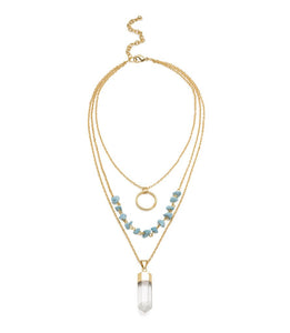 Indira Crystal Cascade Necklace - Matr Boomie (Jewelry) - Urban Hollywood | UrbanHollywood.com
