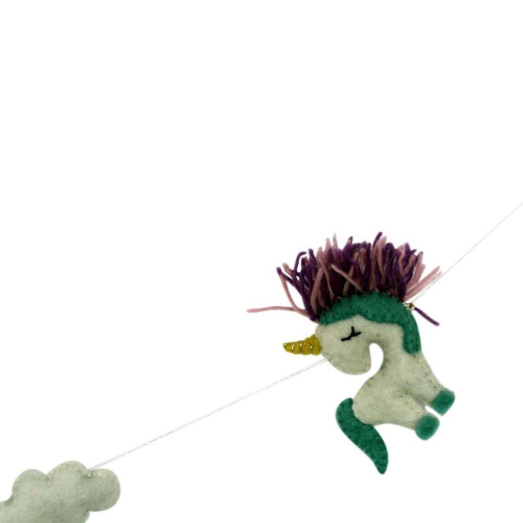 Felt Unicorn Garland - Global Groove - Urban Hollywood | UrbanHollywood.com