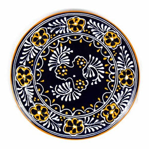 "Handmade Pottery 8"" Trivet or Wall Hanging, Blue - Encantada - Urban Hollywood 