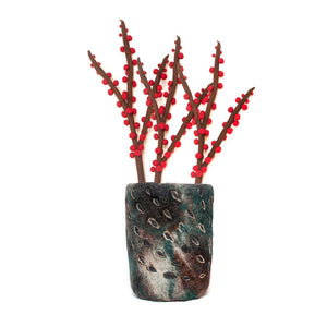 Felt Red Berries Stem - Hamro Village - Urban Hollywood | UrbanHollywood.com