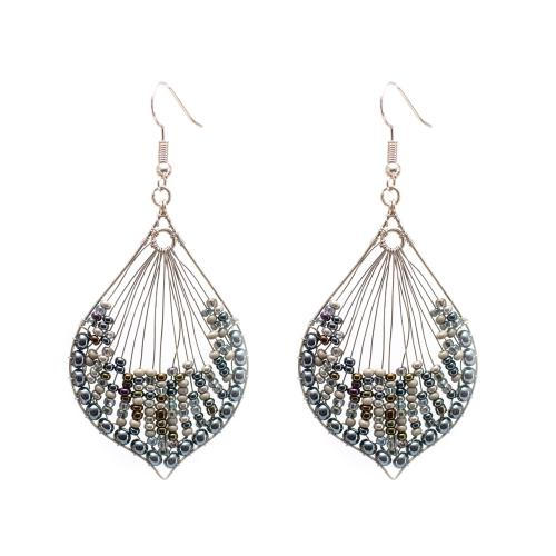 Cleo Earrings - Granite - Lucias Imports (J) - Urban Hollywood | UrbanHollywood.com