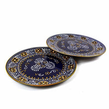 Load image into Gallery viewer, Dinner Plates 11.8in - Blue, Set of Two - Encantada - Urban Hollywood | UrbanHollywood.com