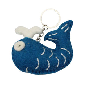 Felt Whale Key Chain - Global Groove (A) - Urban Hollywood | UrbanHollywood.com