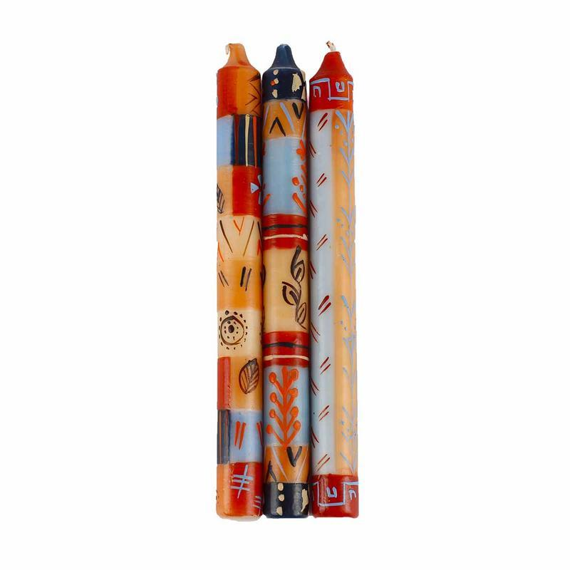 Hand Painted Candles in Uzushi Design (three tapers) - Nobunto - Urban Hollywood | UrbanHollywood.com